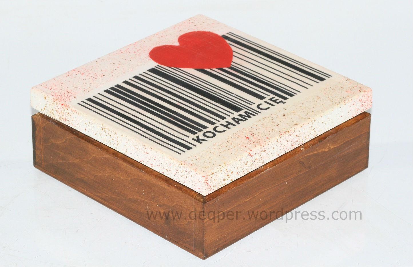 decoupage pudełko szkatułka miłość serce miłosne walentynki rocznica